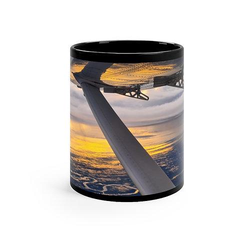 Sunrise Black mug 11oz