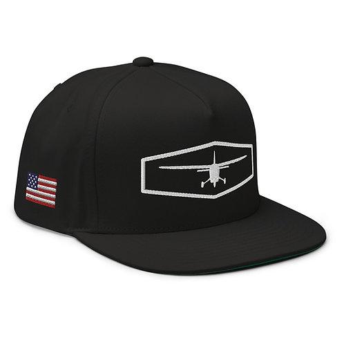 USA Flag Flat Bill Cap