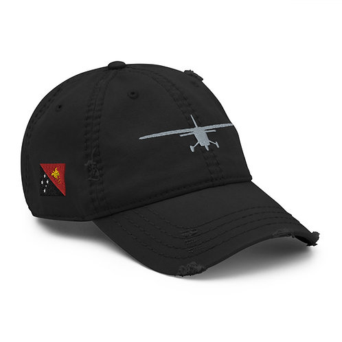 Distressed Dad Hat- Papua New Guinea Flag
