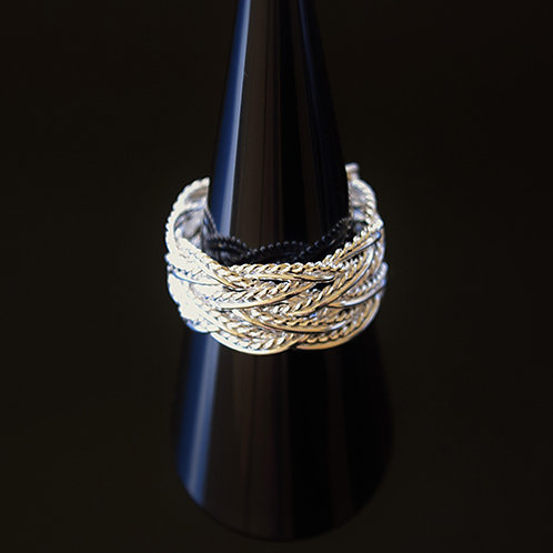 Sterling Silver Plaited Dress Ring