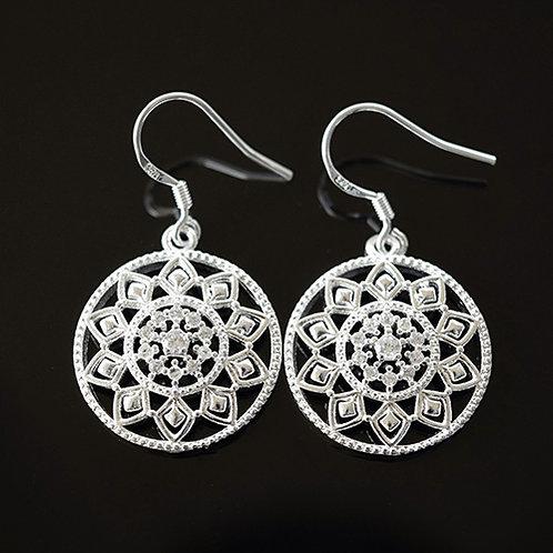Sterling Silver Crystal Drop Earrings