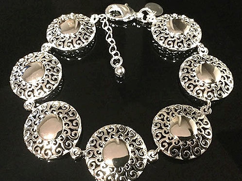 Sterling Silver Sun Design Bracelet