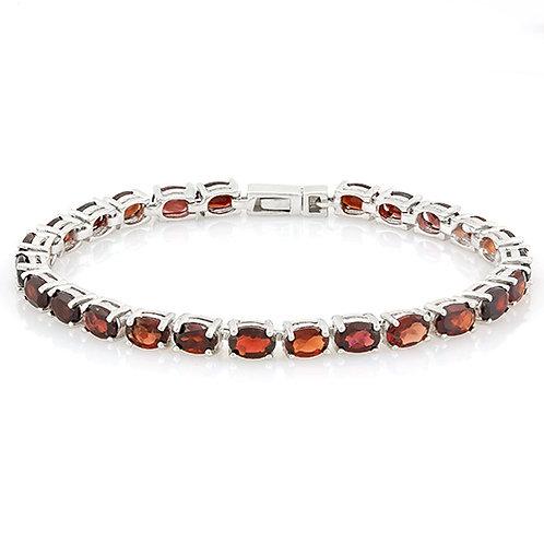 Sterling Silver Garnet Tennis Bracelet