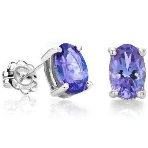 Sterling Silver 0.90ct Tanzanite Stud Earrings