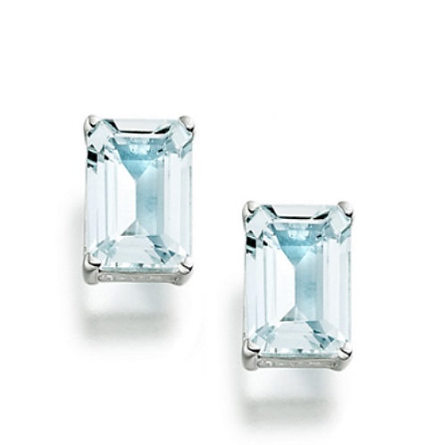 Sterling Silver 1 4/5ct Aquamarine Stud