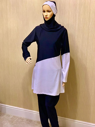 Ladies Swimwear Black & White DK ( Al Sabehah )