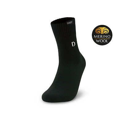 DAKY (PHANTOM PLUS) - WUDU COMPLIANT & WATERPROOF BLACK SOCKS (M