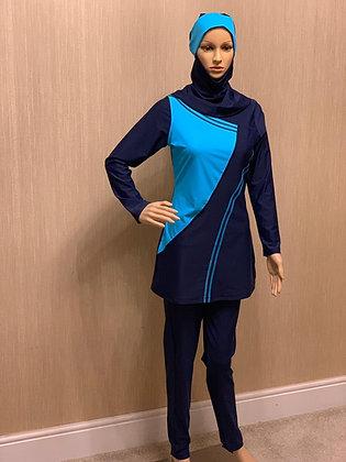 Ladies Swimwear Navy & Blue DK ( Al Sabehah )