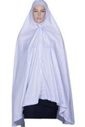 Women White Ihram Khimar Hijab Burka Muslim Hajj Umrah Ladies Eh