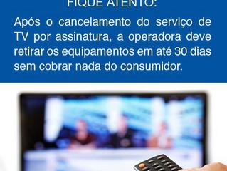 Cancelamento do serviço de TV por assinatura