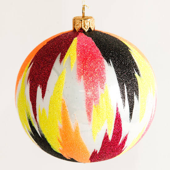 "#1815 - Thomas Glenn ""Lava"" Ball Ornament"