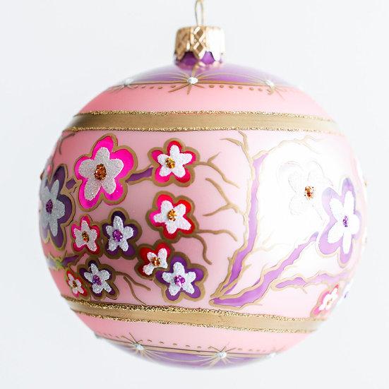 "#136 - Thomas Glenn ""Japanese Blossom"" Ball Ornament"
