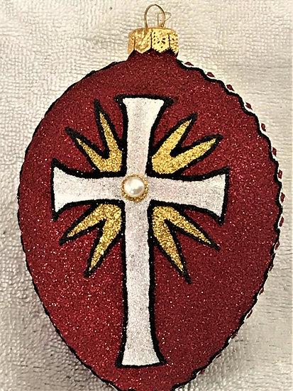 "#1879 - Thomas Glenn ""Southern Cross"" Faberge Egg Christmas Ornament"