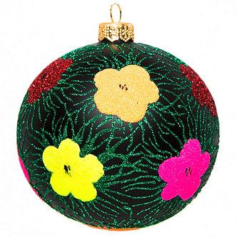"#1750 - Thomas Glenn ""Flower Patch"" Ball Ornament"