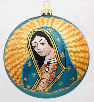 "#1151 - Thomas Glenn ""Lady of Guadalupe"" Ball Ornament"