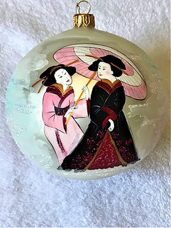 "#2067 - Thomas Glenn ""Geisha"" Ball Christmas Ornament"