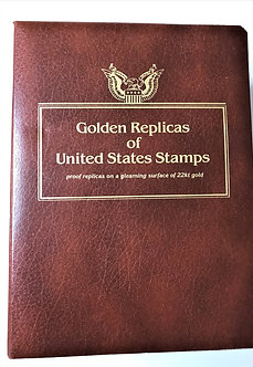 "Stamps ""Golden Replicas of United States Stamps""  3-Volume Collection"
