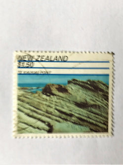 """Stamps """"New Zealand #1042"""" $1.50 Te Kaukau Point issue, Used"""