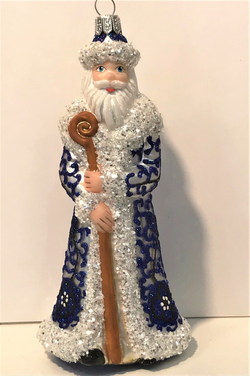 1961santa Thomas Glenn Santa Ginger Jar Molded Christmas Ornament