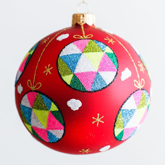 "#1901 - Thomas Glenn ""Festive Fun"" Ball Ornament"