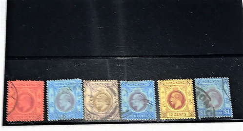 """Stamps """"Hong Kong"""" King Edward/King George Issues"""