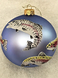 "#1926 - Thomas Glenn ""Christmas Trout"" Ball Christmas Ornament"
