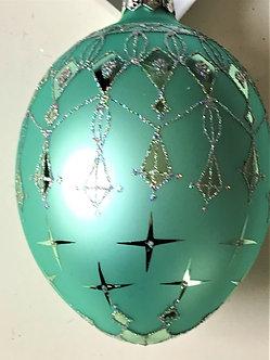 "Thomas Glenn ""Egg - Teal"" Egg Christmas Ornament"