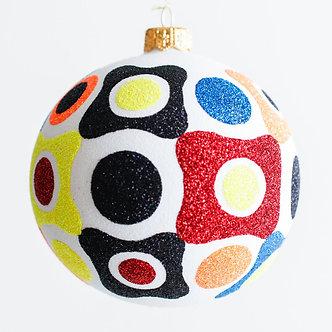 "#1920 - Thomas Glenn ""Hard Candy Christmas"" Ball Ornament"