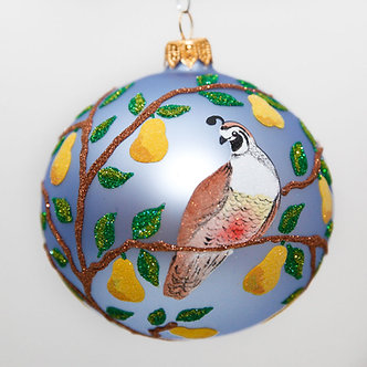 "#2007 - Thomas Glenn ""Partridge In A Pear Tree"" Ball Christmas Ornament"