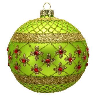 "#635L - Thomas Glenn ""Lime Coronation"" Ball Ornament"