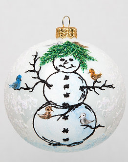 "#1729 - Thomas Glenn ""Tom's Snowman"" Ball Ornament"