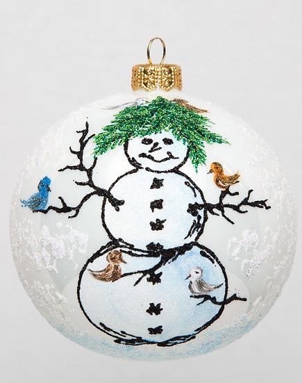 "#1729 - Thomas Glenn ""Tom's Snowman"" Ball Ornament"