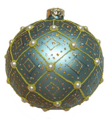 "#634LB - Thomas Glenn ""Light Blue Pearl"" Ornament"