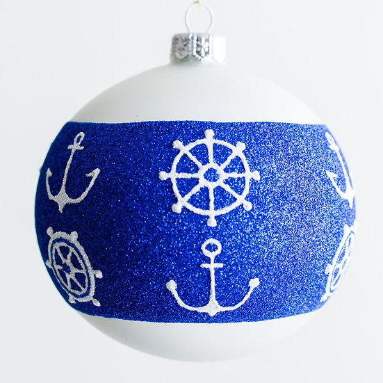 "#1935 - Thomas Glenn ""Ahoy"" Ball Ornament"