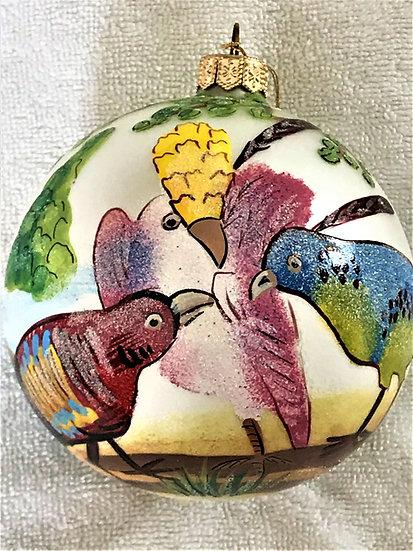 "#73 - Thomas Glenn ""Sevres Ball White"" Ball Christmas Ornament"