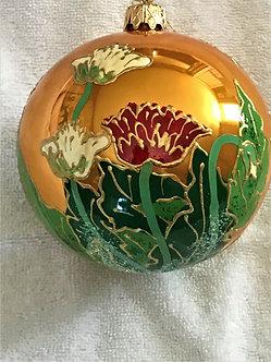 "#140 - Thomas Glenn ""Poppies"" Ball Christmas Ornament"