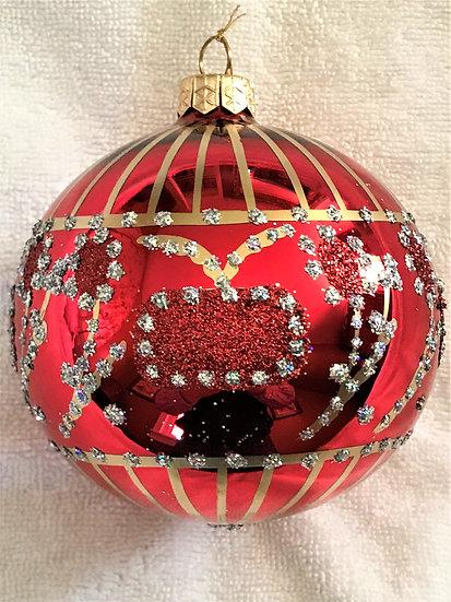 """#128 - Thomas Glenn """"Mougal Crown - Red"""" Ball Christmas Ornament"""