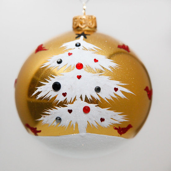 """#2024 - Thomas Glenn """"Frosted Branches"""" Ball Christmas Ornament"""