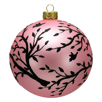 "#1622 - Thomas Glenn ""Silhouetted Branches"" Ball Ornament"