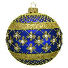 "#635B - Thomas Glenn ""Blue Coronation"" Ball Ornament"
