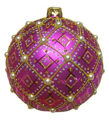 "#634PUR - Thomas Glenn ""Purple Pearl"" Ornament"