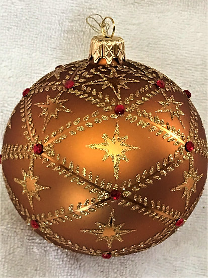 "#716BZ - Thomas Glenn ""Stars - Bronze"" Ball Christmas Ornament"