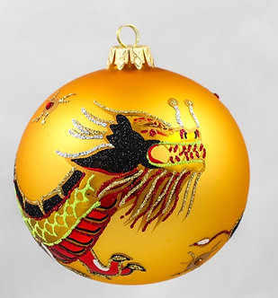 "#138 - Thomas Glenn ""Gold Dragon Ball"" Ornament"