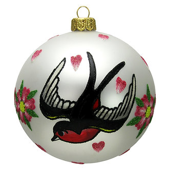 "#1635 - Thomas Glenn ""Tattoo Bird"" Ornament"