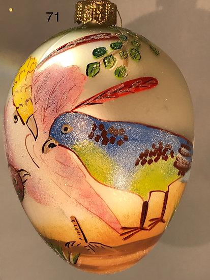 "#71 - Thomas Glenn ""Sevre Egg White"" Faberge Egg Ornament"