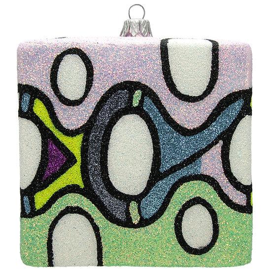 "#204C - Thomas Glenn ""Love the 60s"" Cube Ornament"