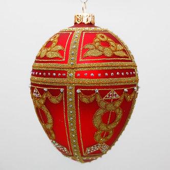 "#2083 - Thomas Glenn ""Josephine"" Faberge Egg Christmas Ornament"