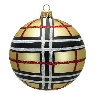 """#1549 - Thomas Glenn """"Classic Plaid"""" Ball Ornament"""
