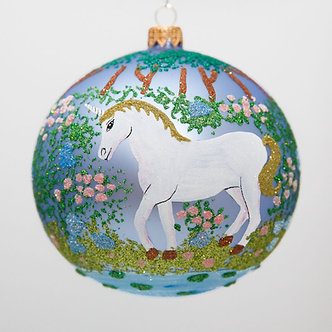 "#2011 - Thomas Glenn ""Unicorn"" Ball Christmas Ornament"