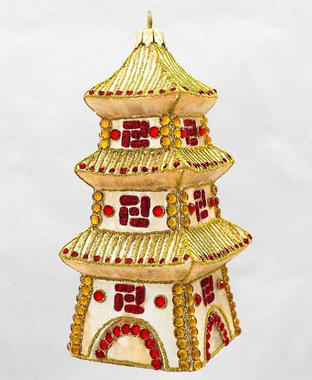 "#655 - Thomas Glenn ""Gold Pagoda"" Ornament"